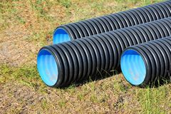 Stacked PVC pipe Royalty Free Stock Image