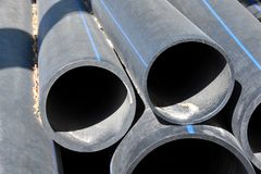 Stacked PVC pipe Royalty Free Stock Photography