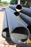 Stacked PVC pipe Stock Photos