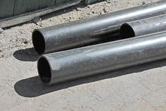 Stacked PVC pipe Royalty Free Stock Photo