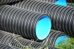 Stacked PVC pipe Stock Image