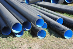 Stacked PVC pipe Stock Images