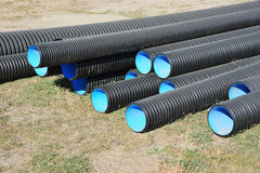 Stacked PVC pipe Stock Photography