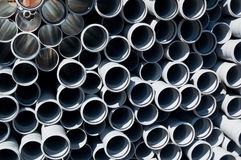 Stacked PVC pipes Stock Photography