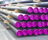 Stacked pvc pipes Royalty Free Stock Photography