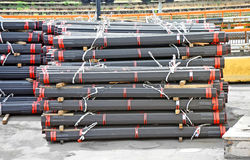 Stacked PVC and steel pipe Stock Photography