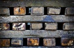 Stacked railway sleepers Royalty Free Stock Photography