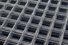 Stacked rebar grids Stock Images