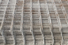 Stacked rebar grids Royalty Free Stock Images