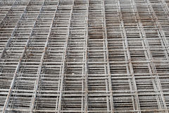 Stacked rebar grids Stock Photo
