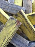 Stacked rectangle woods with yellow. Background Stock Photography