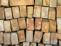 Stacked red bricks Stock Photography