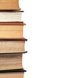 Stacked Reference Books. A stack of college library reference books Royalty Free Stock Image