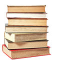 Stacked Reference Books. A stack of college library reference books Stock Photo