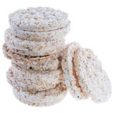 Stacked Rice Cakes on white Stock Images