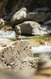 Stacked rock tower Stock Photo