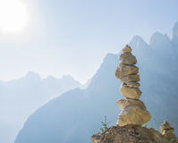 Stacked rock tower Stock Photography