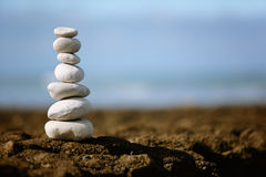 Stacked rocks Royalty Free Stock Photography