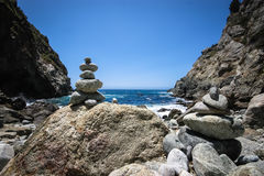 Stacked Rocks. On the coast of California, USA Stock Images