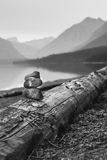 Stacked rocks in Glacier National Park Royalty Free Stock Photography