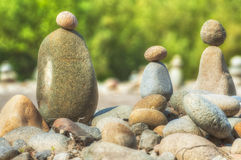 Stacked Rocks At Oxbow Park stock image
