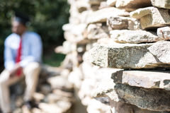 Stacked Rocks of Success Stock Photo