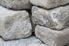 Stacked white rocks texture. Stacked rocks with white and black, rock texture Stock Image