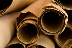 Stacked rolled up old paper Royalty Free Stock Images