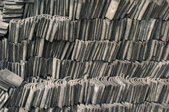 Stacked roof tilings Stock Photography