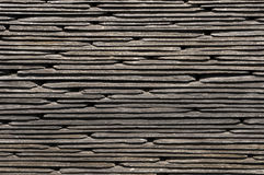 Stacked roofing slate texture or pattern. Close up of rooffing slates stacked to create a pattern or texture Stock Image