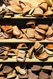 Stacked sandals Royalty Free Stock Images