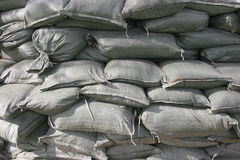 Stacked Sandbags Royalty Free Stock Photo