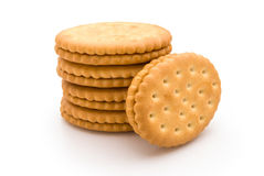 Stacked sandwich biscuits Stock Image