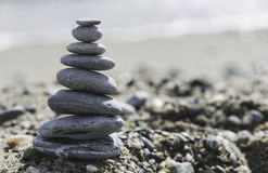 Stacked sea stones Stock Image