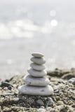 Stacked sea stones Royalty Free Stock Photos