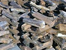 Stacked Seasoned Firewood Royalty Free Stock Image