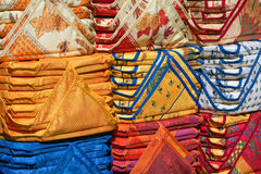 Stacked Seat Cushions of Provence Stock Photos