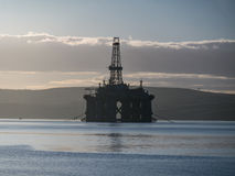 Stacked Semi Submersible Oil Rig at Cromarty Firth in Invergordo Royalty Free Stock Images