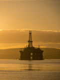 Stacked Semi Submersible Oil Rig at Cromarty Firth in Invergordo Royalty Free Stock Photo