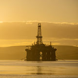 Stacked Semi Submersible Oil Rig at Cromarty Firth Royalty Free Stock Photography