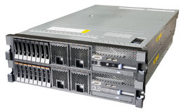 Stacked servers isolated. Two stacked rack mount servers isolated on the white background Stock Photography