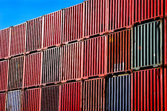 Stacked shipping container Royalty Free Stock Images