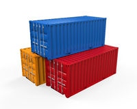 Stacked Shipping Container Stock Photos