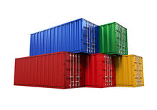 Stacked Shipping Container Royalty Free Stock Photos