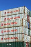 STACKED SHIPPING CONTAINERS Royalty Free Stock Images
