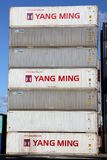 STACKED SHIPPING CONTAINERS Stock Images