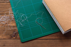 Stacked signatures ready to be sewed Royalty Free Stock Photography