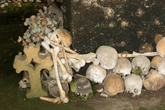 Stacked skulls Royalty Free Stock Photo