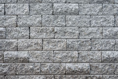 Stacked slate bricks wall texture Stock Photo