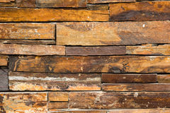 Stacked slate stone wall Royalty Free Stock Photo
